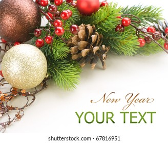 New Year or Christmas Decorations border design