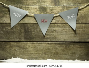 New Year composition with decorations