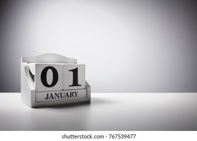 New year concept January 1st calendar background