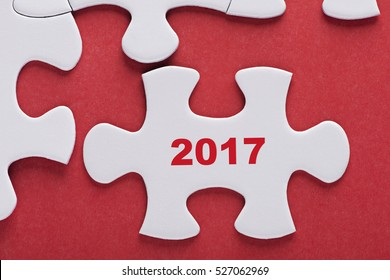 new year concept missing puzzle