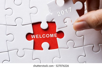 new year concept with missing puzzle