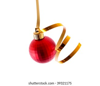 New Year decoration isolated on white