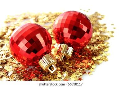 New year decoration on shining background