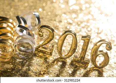 New year decoration,Closeup on 2016.