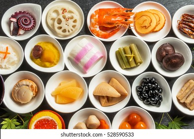 New Year dishes Japanese food of the New Year (osechi)