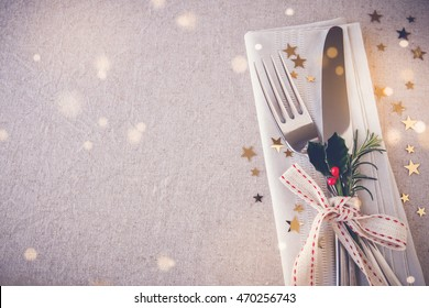 New Year eve 2020, Christmas food, breakfast lunch, holiday dinner table place setting, festive background