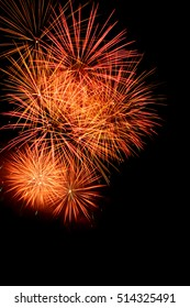 New year fireworks background full of color