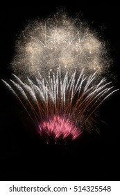 New year fireworks frame background full of color