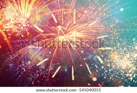 new year fireworks happy new year card