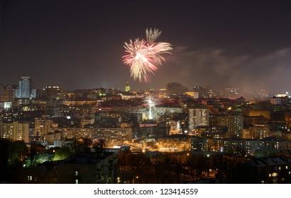 New Year fireworks over Kiev