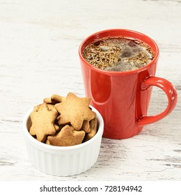 New Year. Gingerbread Cookie. Aromatic coffee. Recipe.