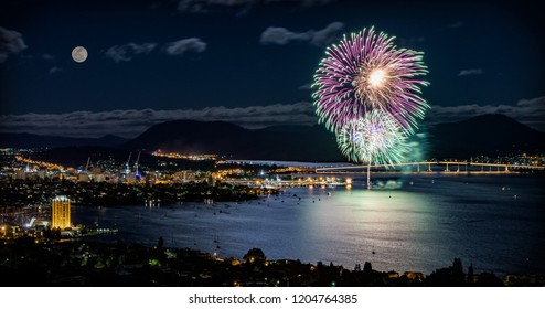 New year in Hobart with lovely fireworks