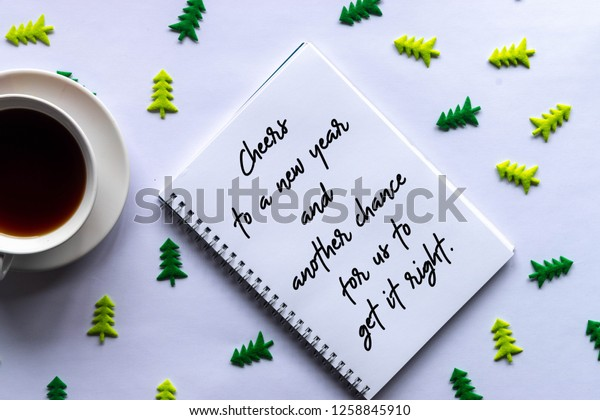 new year motivational quote stock photo edit now