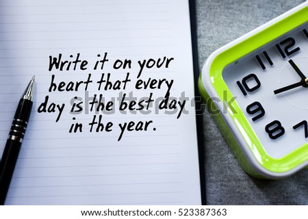 New Year Motivational Quotes Background Pen Stock Photo Edit Now