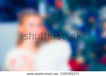 new year party theme creative abstract blur background with bokeh effect