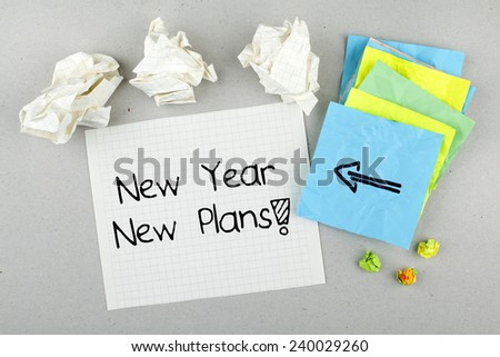 New Year New Plans Fresh Start Stock Photo (Edit Now) 240029260 ...