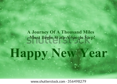 new year quotes on green background