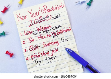 New year resolution 2021 fail concept, funny, meme