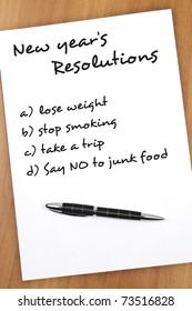 New year resolution Say no to junk food as most important