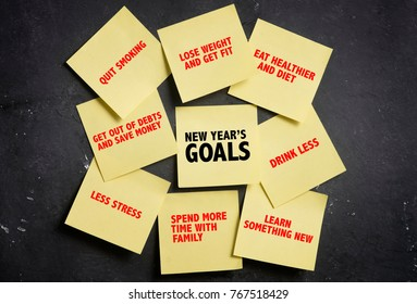 New Year Resolution Sticky notes