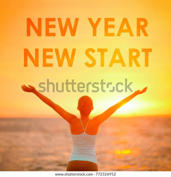new year new start motivational message stock photo edit now