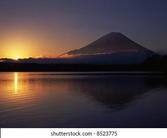 New year sunrise and Mt,fuji