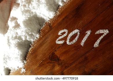 new year time and snow