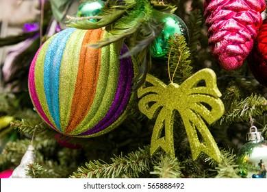 New year tree decorations