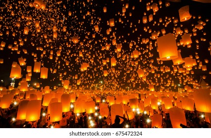 New year and Yeepeng festival in Thailand, Yee peng is very famus in China, Taiwan and Thailand