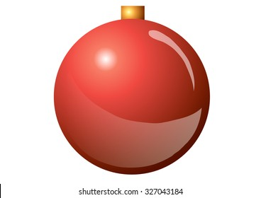 New Year's ball on a white background.