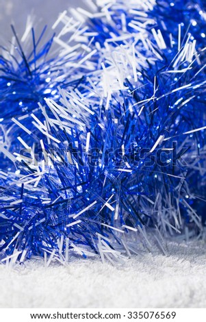 New Years Blue White Tinsel Background Stock Photo Edit Now