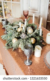 New Year's decor table