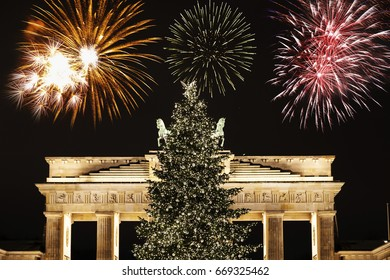 New Year's Eve at Brandenburger gate in Berlin