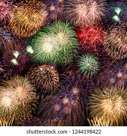 New Year's Eve fireworks background years year square firework backgrounds