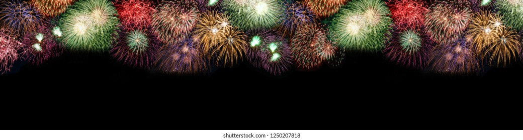 New Year's Eve fireworks background large copyspace copy space banner years year firework backgrounds