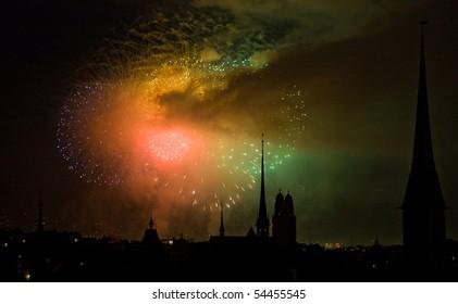 new years eve party in Zürich, Switzerland