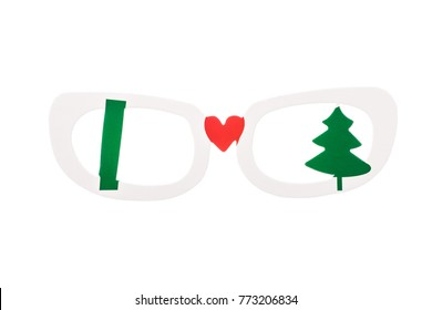 new years glasses icon isolated on a white background