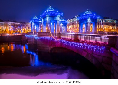 New Year's holidays in St. Petersburg. Petersburg In the winter. New Year's St. Petersburg.