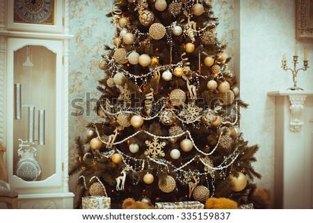 new years interior christmas tree christmas stock photo edit now