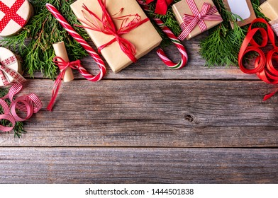 New Year's still life on wooden background.