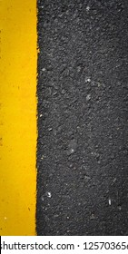 new yellow line on the road texture
