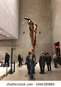 NEW YOR CITY, MANHATTAN: March 11 2018, 9/11 Ground Zero Memorial Museum, Open to Public, World Trade Centre Terrorist Attacks On September 11 2001. America.