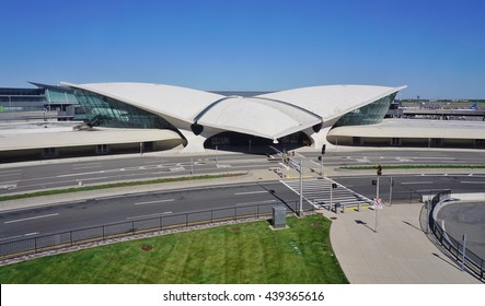 NEW YORK -10 JUNE 2016- The landmark TWA Flight Center building designed by Saarinen at the John F. Kennedy International Airport (JFK).