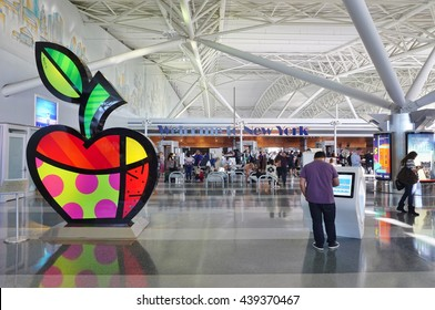 NEW YORK -10 JUNE 2016- Inside the American Airlines (AA) Terminal 8 at the John F. Kennedy International Airport (JFK).