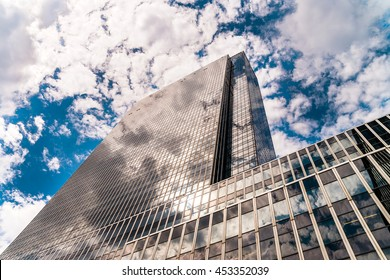 NEW YORK - 15 JULY 2016: Penn Plaza was designed by Kahn & Jacobs and completed in 1972. It reaches 750 feet (230 m) with 57 floors.