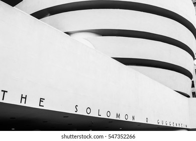 NEW YORK - 2014, JUNE, 8: The facade of the Guggenheim Museum in New York, USA