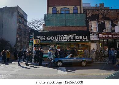 New York - 23 April 2018: Deli in East Village New York