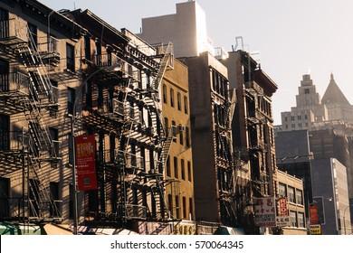 NEW YORK - 26 DECEMBER, 2016: Sunset Time in New York City, USA