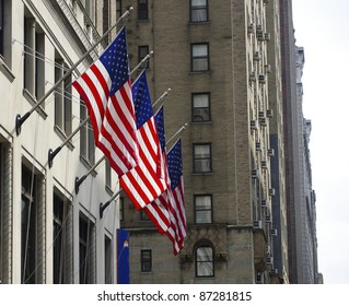 new york american flags