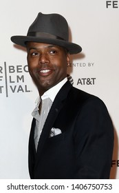 NEW YORK - APR 26: TV personality AJ Calloway attends the premiere of 'The Circle' during the 2017 Tribeca Film Festival at BMCC Tribeca PAC on April 26, 2017 in New York City.
